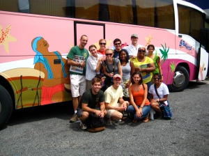 The group prepares to leave Honduras